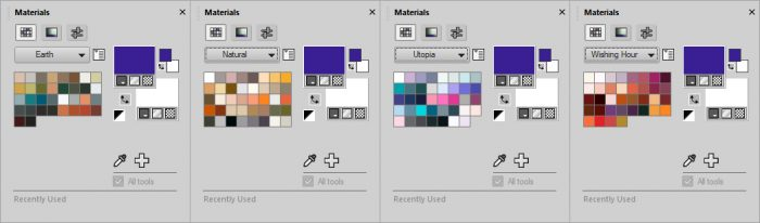 PaintShop Pro 2019 Review - Color swatches