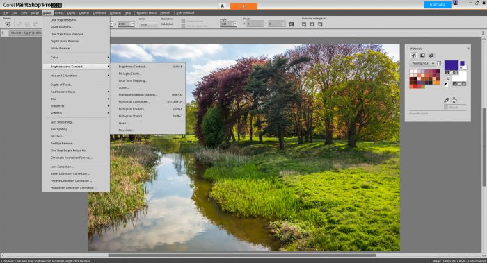 PaintShop Pro 2019 Review - Adjustments