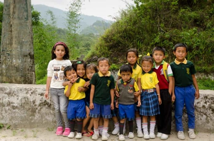 sikkim, children, people