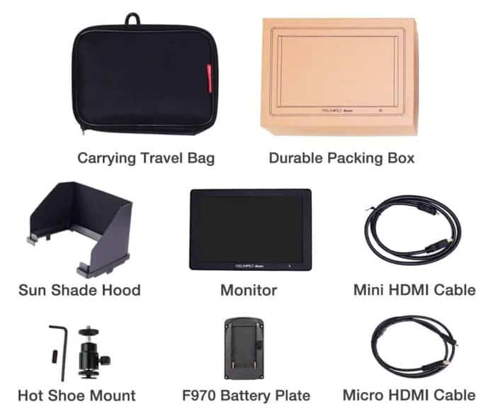 Feelworld Master MA7 Field Monitor - What's in the Box
