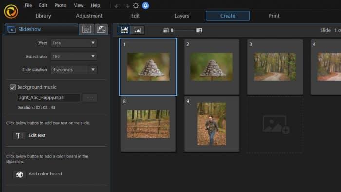 photodirector 10 review slideshow