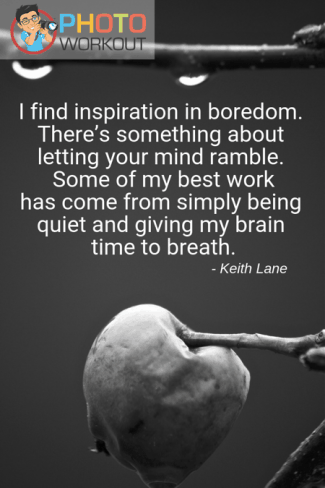 Quote by Keith Lane on giving brain time to breathe