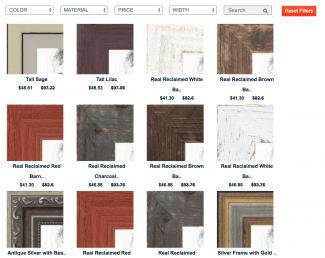 CanvasChamp photo print frame selection