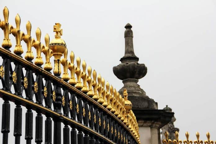 Iron railings of Buckingham Palace
