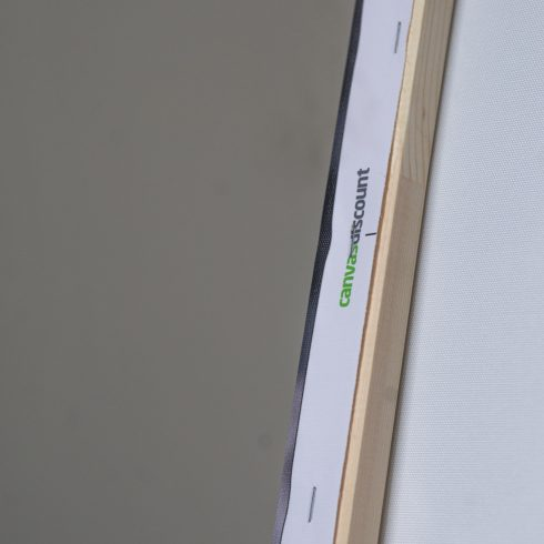 CanvasDiscount canvas review: wooden frame. Product photo.