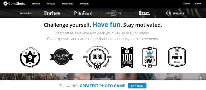 GuruShots screenshot with pros