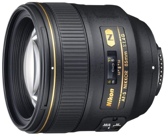 Nikon Nikkor 85mm f/1.4 best portrait lens