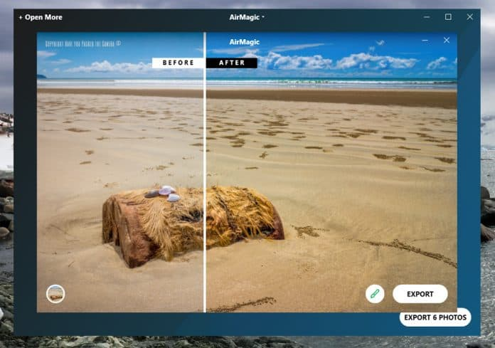 AirMagic software Before and After