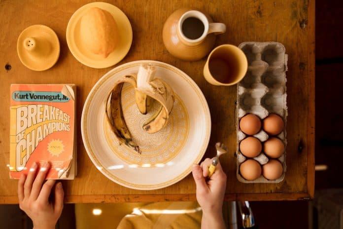 breakfast flat lay