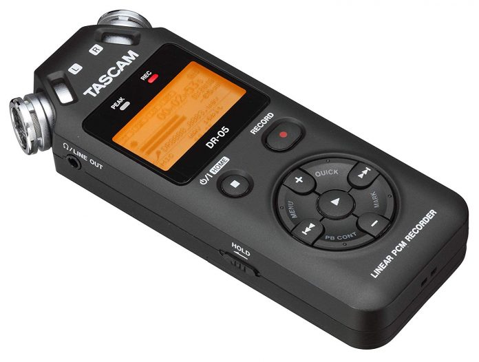 Tascam DR-05 front view