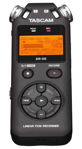 Tascam front view