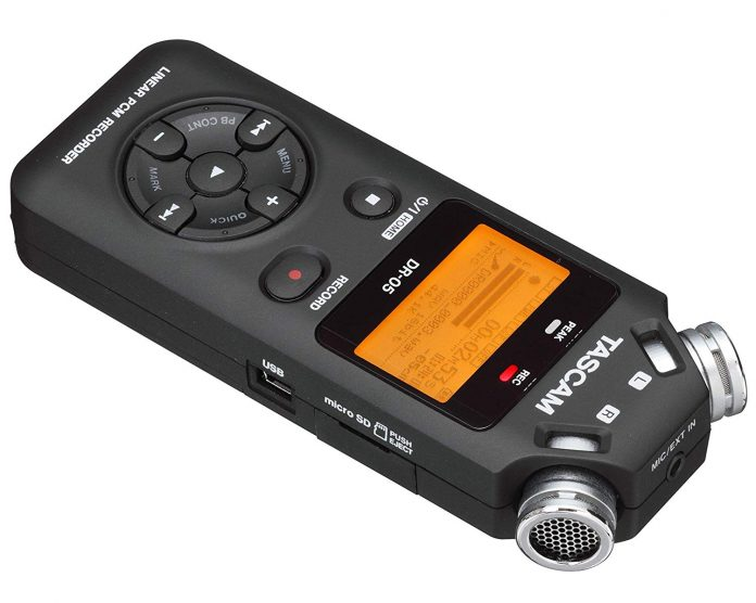front view of Tascam DR-05