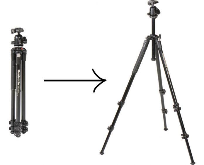 Manfroto MK290 BHUS Size Comparison: compact to full size