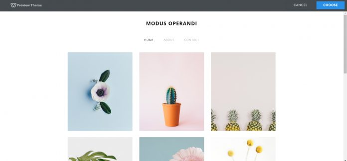 Weebly theme