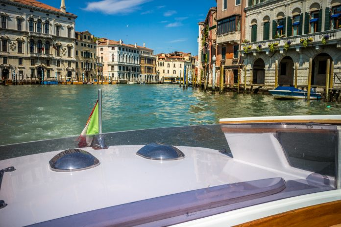 Boating on the Grand Canal, Venice