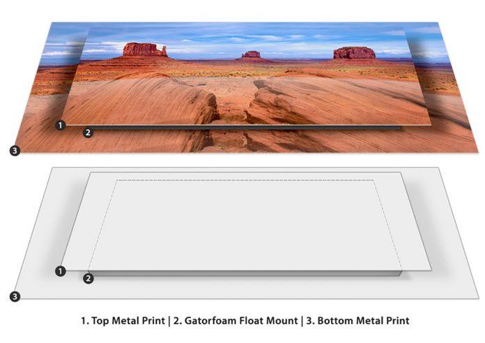 Bay Photo double float MetalPrint