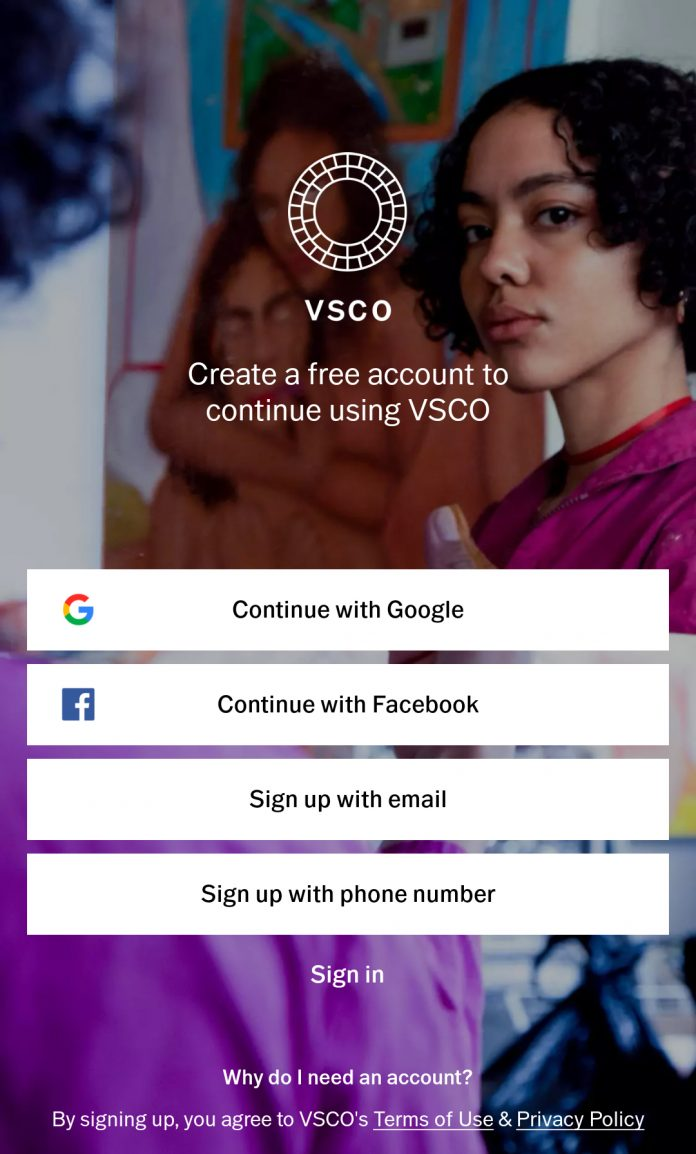 VSCO Post-Processing App