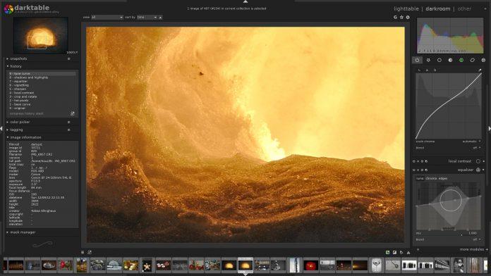 Darktable screenshot