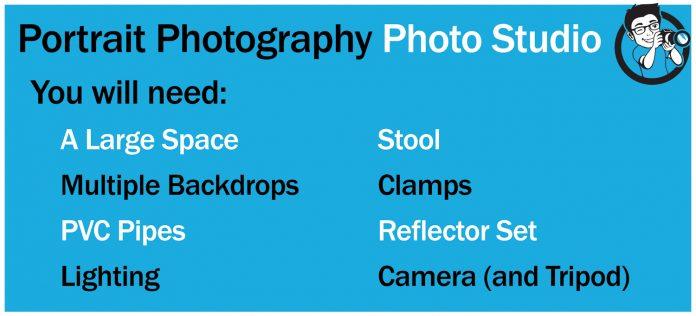 equipment list for portrait photography