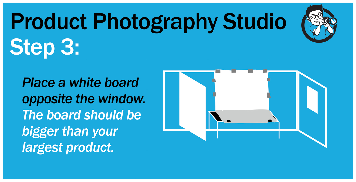 step 3 product photography studio