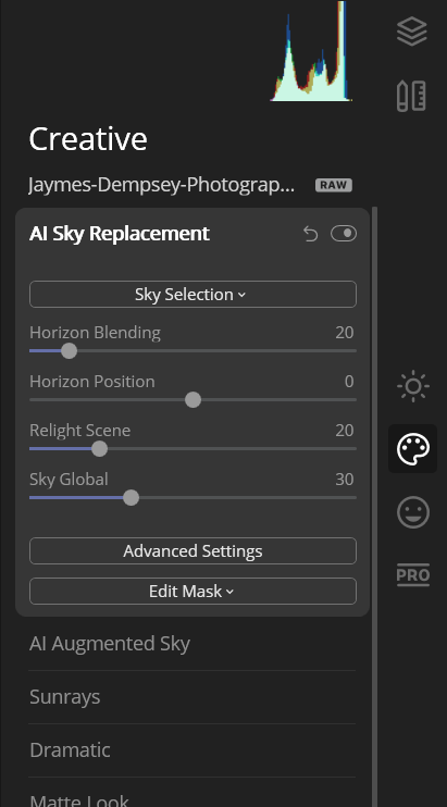 AI Sky Replacement