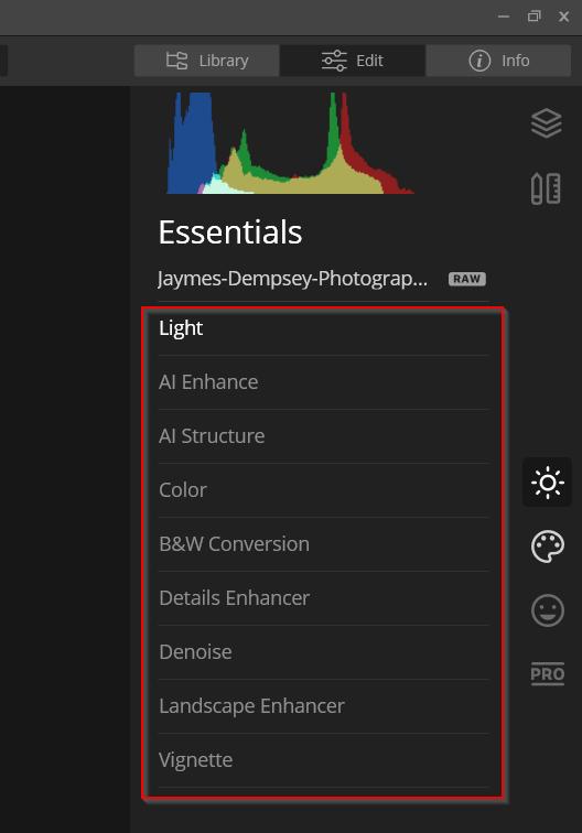 AI Enhancements luminar 4