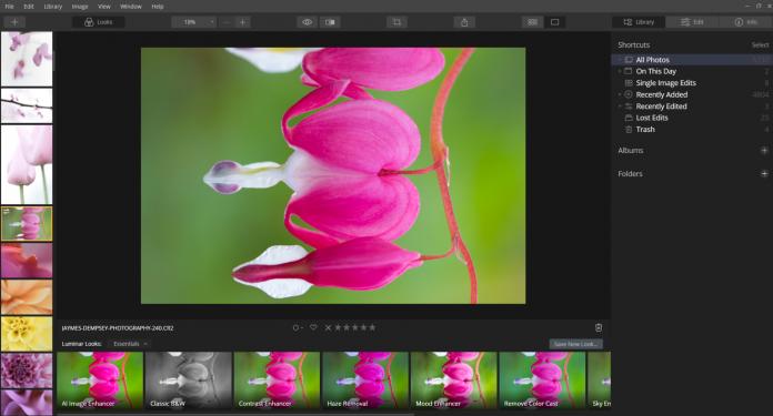 rotating images luminar shortcut