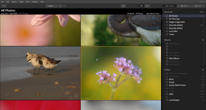 luminar photo library