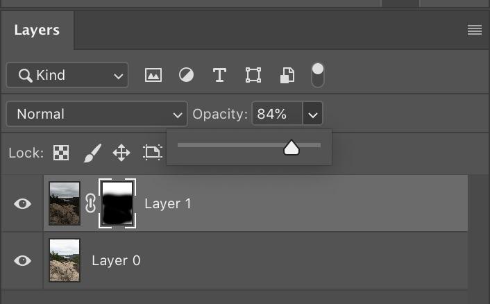 layer opacity adjustment