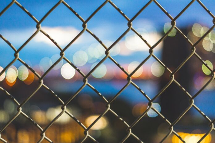 fence with background bokeh